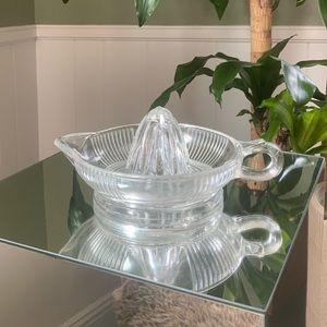 Vintage Citrus Juicer starburst glass MCM crystal